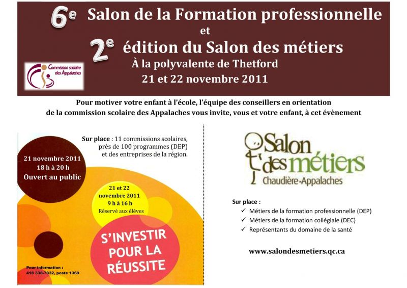 Salon de la formation professionnelle et salon des m tiers - Salon de la formation ...